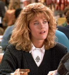 Meg Ryan as Sally Albright in When Harry Met Sally..., 1989. Meg Ryan was America's  Sweetheart in the 1980s-90s.