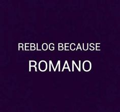 LOGIC IS ROMANO, ROMANO IS LOVE, R O M A N O I S L I F E || alright. Romano is cool. *ignoring previous description*