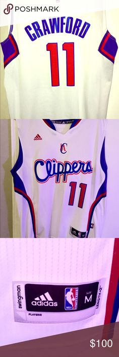 b74d62279 Jamal Crawford authentic jersey Stitched on lettering and numbers Make by  Adidas Size Adukt M adidas Other