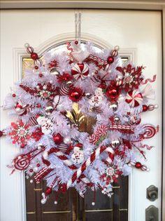 Our beautiful handmade Christmas wreath!!!