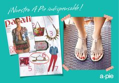 a*pie en revista Parati! #press #fashion #shoes #sandals #mag #parati