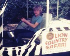 A young Kurt Cobain at the Lion Country Safari in Laguna Hills, California.