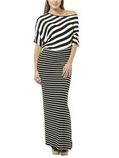 Striped Dolman Maxi Dresses