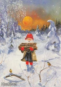 Johnnie Jacobsen Xmas, Christmas, Faeries, Gnomes, Fairy, Wool, Crowd, Postcards, Pictures
