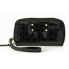 874a48a6ee33 Kate Spade New York Black Patent Leather Wristlet Kate Spade Wallet