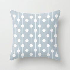 BlueGray Lined Polka Dot Throw Pillow by The Petite Pear - $20.00