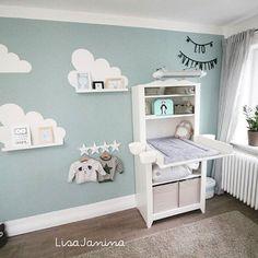 Babyzimmer #Wolken #Bilderleiste Deko Weiß, Spielzimmer, Wandgestaltung  Kinderzimmer, Wandfarben, Nachwuchs