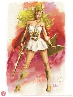 Licensed fine art print for Mad Duck Posters She-Ra Unchained Fine art print 80 Cartoons, Cartoon Posters, Cartoon Characters, Thundercats, Gi Joe, Catwoman, She Ra Princess Of Power, Estilo Anime, Wonder Woman