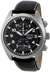 f901d8286f5 Amazon.com  Seiko Men s SNN231P1 Black Dial With Chronograph Watch  Seiko   Watches