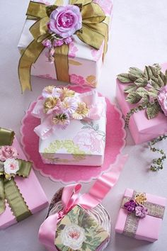 ✂ That's a Wrap ✂ diy ideas for gift packaging and wrapped presents - spring pinks
