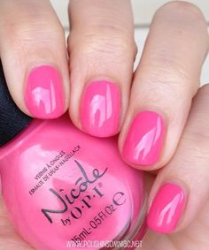 Nicole by OPI LeaPink for Joy. Love this shade. Fabulous Nails, Perfect Nails, Perfect Pink, Pretty Nail Colors, Pretty Nails, Nail Polish Designs, Nail Polish Colors, Fancy Nails, Cute Nails