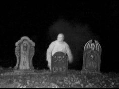 Ground breaking graveyard ghost .