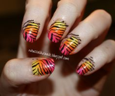 DIY zebra nails