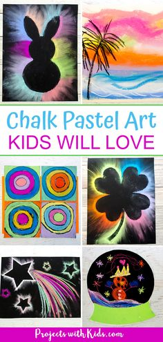 Fun and easy ideas for kids to create chalk pastel art! Creative ideas for different seasons, holidays or anytime that kids of all ages will love. for kids creative Awesome Chalk Pastel Art Kids Will Love to Create Chalk Pastel Art, Oil Pastel Art, Chalk Pastels, Chalk Art, Winter Crafts For Kids, Craft Projects For Kids, Spring Crafts, Art Projects, Craft Ideas