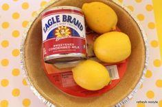 Super easy lemon pie.