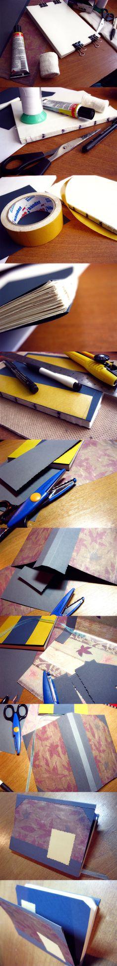 How to make sketchbook. Steps by Piromanova.deviantart.com