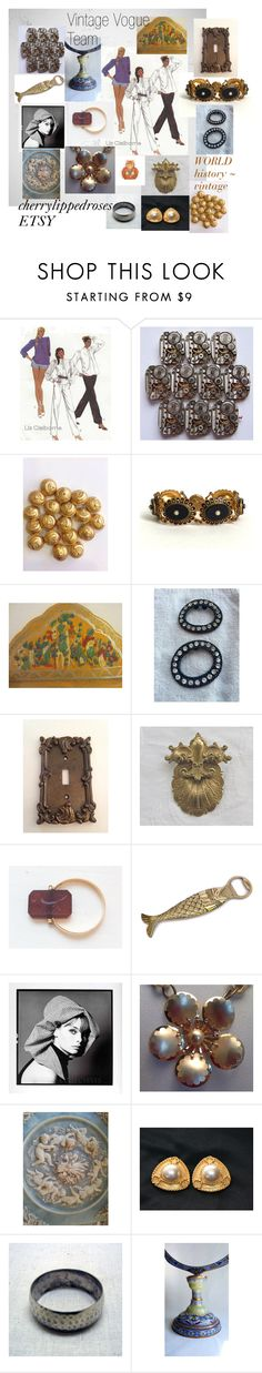 """World History ~ Vintage"" by cherrylippedroses ❤ liked on Polyvore featuring Liz Claiborne, Rena Lange, Reclaimed Vintage and vintage"