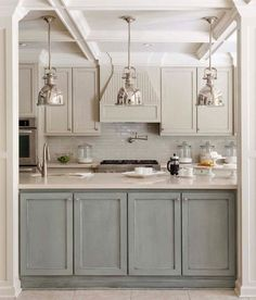 polished kitchen in muted tones