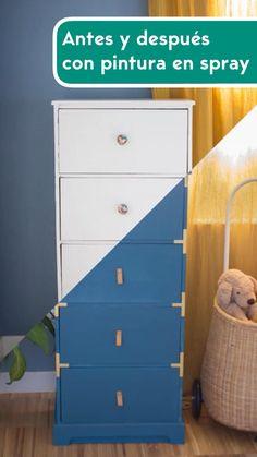Refurbished Furniture, Repurposed Furniture, Diy Furniture, Furniture Storage, Furniture Painting Techniques, Chalk Paint Furniture, Wood Crafts, Diy And Crafts, Chest Of Drawers