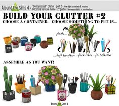 DIY Build your clutter 2 at Around the Sims 4 via Sims 4 Updates