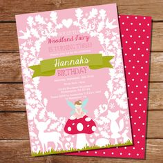 Woodland Fairy Party Invitation by SunshineParties.....so pretty!