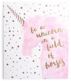 Kids 20x24 Unicorn Quote Wall Art #unicornbirthayparty #shopstyle