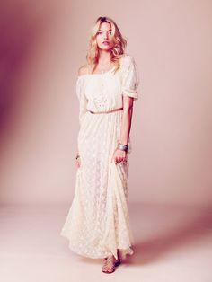 Robe de mariée longue en dentelle à petit prix - Happy Chantilly