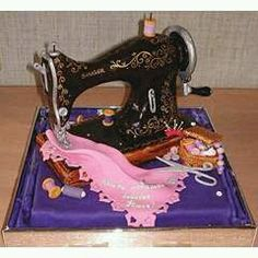 Sewing machine cake, How Cute! cake art - cakes that can be eaten without any part of it left. – by Zhanna from St. Pretty Cakes, Cute Cakes, Beautiful Cakes, Amazing Cakes, Amazing Pics, Amazing Things, Crazy Cakes, Fancy Cakes, Sewing Machine Cake