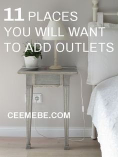Home Remodeling Tips Don't leave your cords hanging around. Check out these 11 great places you will want to add outlets when you are building or remodeling your house. Cute Dorm Rooms, Cool Rooms, Home Building Tips, Building A House, Building Ideas, Building Plans, Home Renovation, Home Remodeling, Kitchen Remodeling