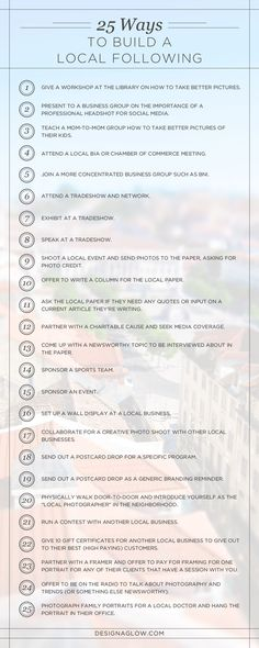 25 Ways for Photogra