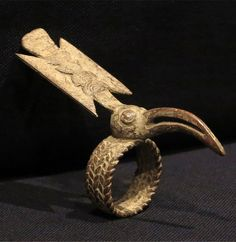 Africa | Ring from the Senufo people | Bronze alloy; lost wax method of casting | Mid 20th century
