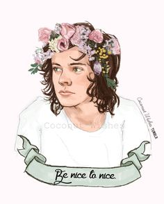 """nice to nice Harry Styles fan art coconutwishes: """" Nicest kid in town. Please DONATE """" Harry Styles Cute, Harry Styles Pictures, Harry Edward Styles, One Direction Fan Art, One Direction Drawings, Modern Country, Desenho Harry Styles, Harry Styles Drawing, Floral Drawing"""