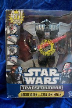 Don't miss this sale! Hasbro Star Wars Transformers Darth Vader to Star Destroyer 4 Modes in 1 | eBay
