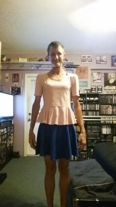 Blue skirt and pink replum top. My Outfit, Cute Outfits, Summer Dresses, Skirts, Pink, How To Wear, Blue, Shopping, Tops