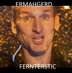 awesomejamie:    so I saw that ermahgerd meme going around with doctor who characters and I felt 9 deserved his own  :3