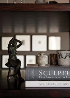 books + decorative objects