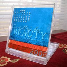 Printable Craft - Making a Calendar from a CD Case