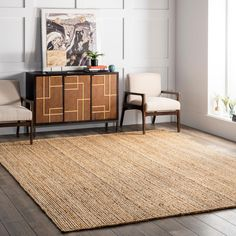 Free 2-day shipping on qualified orders over $35. Buy nuLOOM Hand-Woven Rigo Jute Area Rug or Runner at Walmart.com Area Rugs For Sale, Large Area Rugs, Natural Fiber Rugs, Natural Rug, Natural Colors, Boho Dekor, Braided Area Rugs, Tapis Design, Design Design