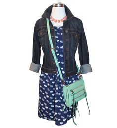 Dresses, jewelry and handbags Oh My! -   Freeway dress, Kut from the Kloth jacket, statement necklace and crossbody purse