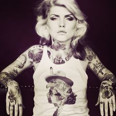 What if Debbie Harry was heavily tattooed? Drawn by IndianGiver over on Instagram.