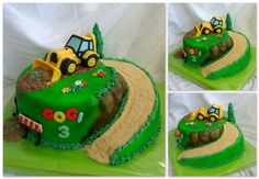 Pin Excavator Cake Cake Ideas and Designs Digger Birthday Cake, Tractor Birthday Cakes, Digger Cake, 3rd Birthday Cakes, Excavator Cake, Truck Cakes, Farm Cake, Cakes For Boys, Novelty Cakes