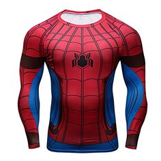 Spider Man Superhero Slim Fit Stretchy Quick Dry Gym 3D TShirt Cycling Jersey AsianM ** Be sure to check out this awesome product.