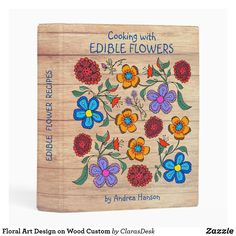 Small Binder, Mini Binder, Light Wood Texture, Perfect Planner, Flower Food, Floral Artwork, Edible Flowers, Photo Quality, Create Yourself
