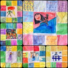 BES Art: Bedtime Story Quilts or have students draw something from their summer or any other topic in the middle