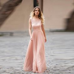 Find More Evening Dresses Information about Hot Sweet Peach Lace Evening Dresses Sexy Backless  Chiffon Evening Gowns Dress To Formal Party Elegant Long Sash 2015 E170,High Quality dress hats for men,China dress cord Suppliers, Cheap dress 2013 from Amazing Life Amazing Wedding on Aliexpress.com