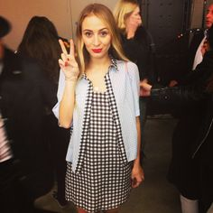 We're still crushing on @harleyvnewton and her double gingham look! #topshopunique #lfw