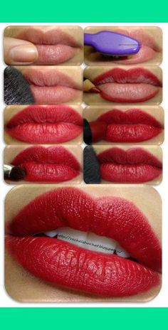 DIY PERFECT LONG LASTING RED LIP Makeup tips and ideas
