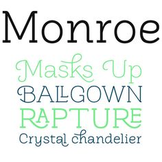 """I really really love these fonts. All of them. But especially the """"Crystal chandelier"""".  Anyone know what font that is?"""