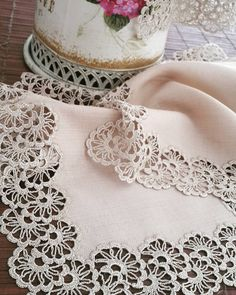 Natural Linen Large Doily Crochet Beige Handmade Vintage Lace Table Runner Doily Tableware Centerpiece Tablecloth Gift for Mom Wedding gifts Crochet Fabric, Crochet Motifs, Crochet Quilt, Granny Square Crochet Pattern, Crochet Borders, Crochet Tablecloth, Filet Crochet, Crochet Doilies, Hand Crochet