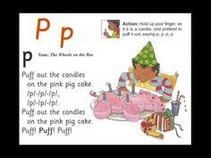 Jolly Phonics song - letter P Phonics Reading, Kids Reading, Kindergarten Literacy, Preschool Learning, Jolly Phonics Songs, Phonics Sounds, Alphabet Songs, Letters For Kids, School Videos
